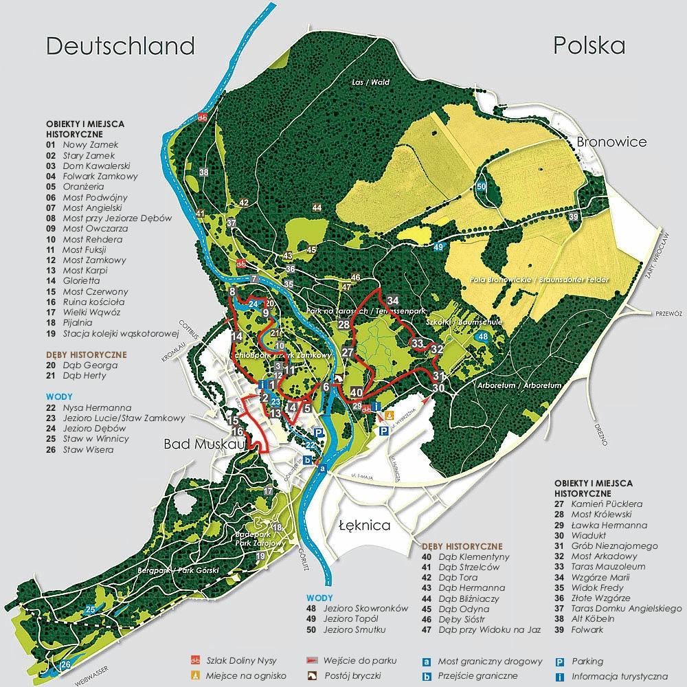 Bad Muskau - mapa