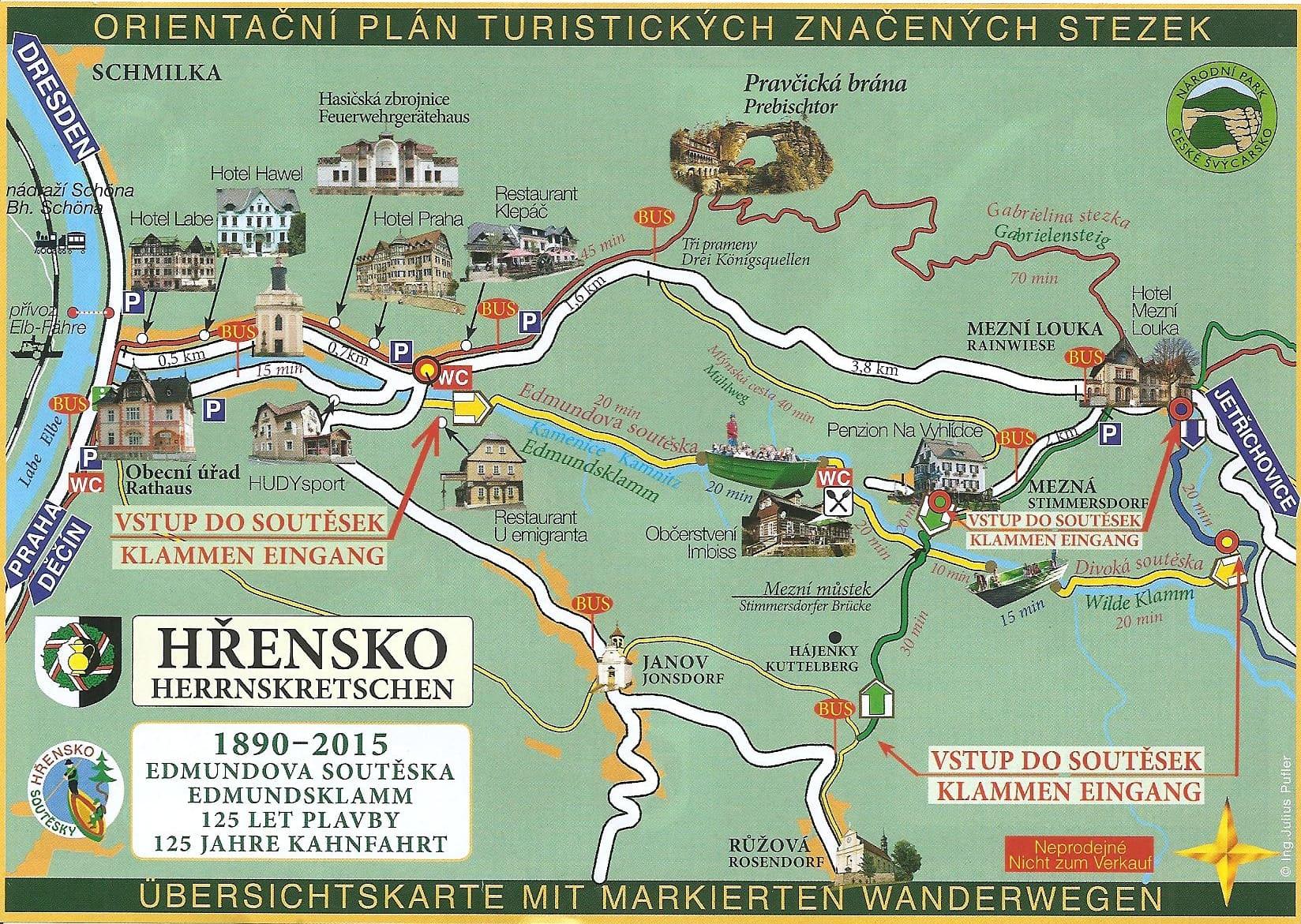 Czeska Szwajcaria mapa