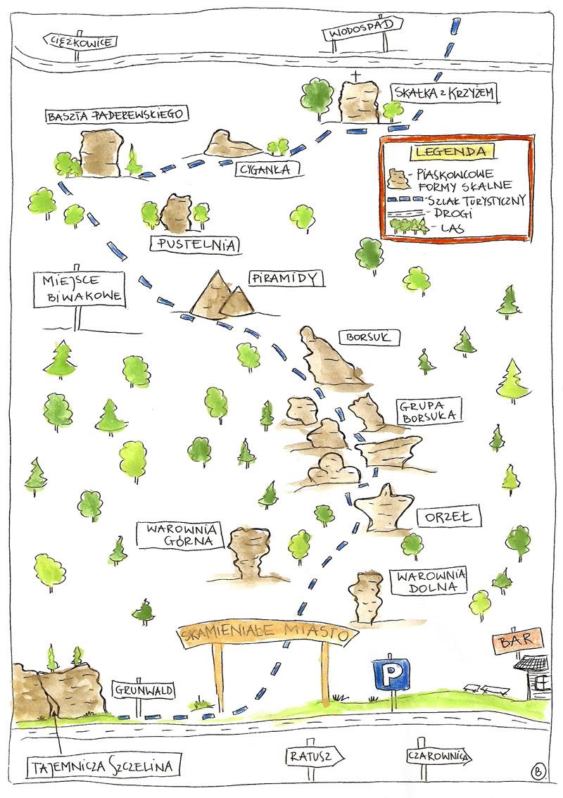 Mapa Skamieniałe Miasto