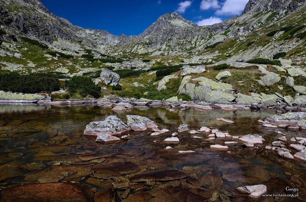 Staw powyżej wodospadu Skok