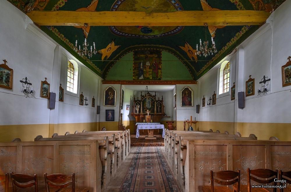 Bieszczadzkie cerkwie Cerkiew w Polanie