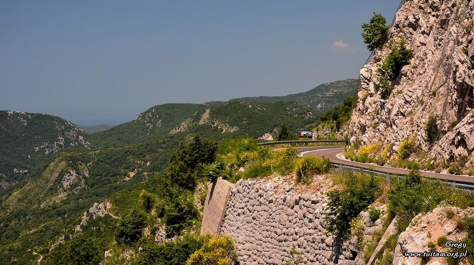 Czarnogóra - droga na Lovcen