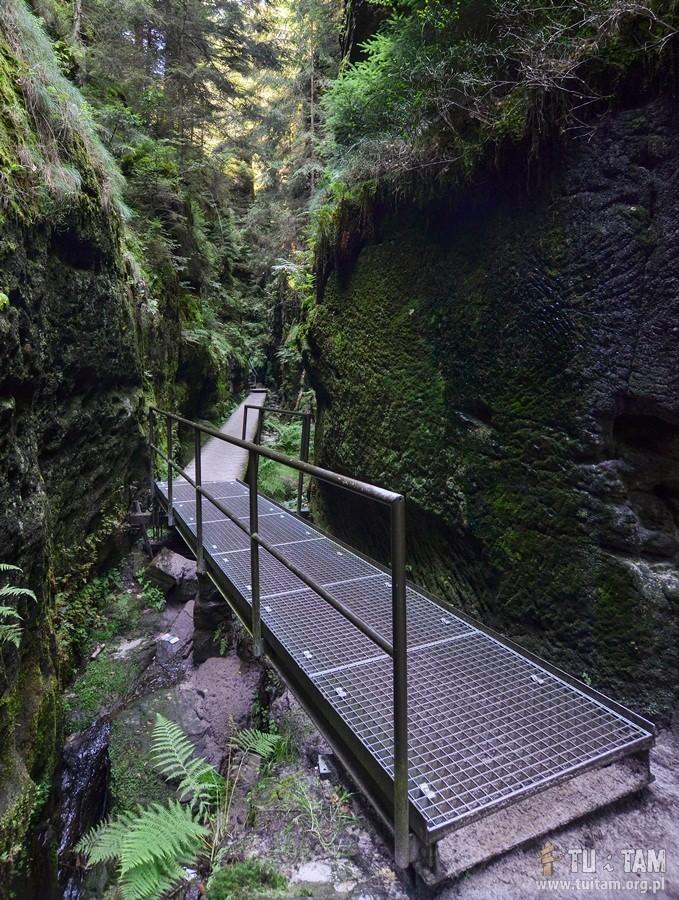 Bastei na szlaku do Amselfall