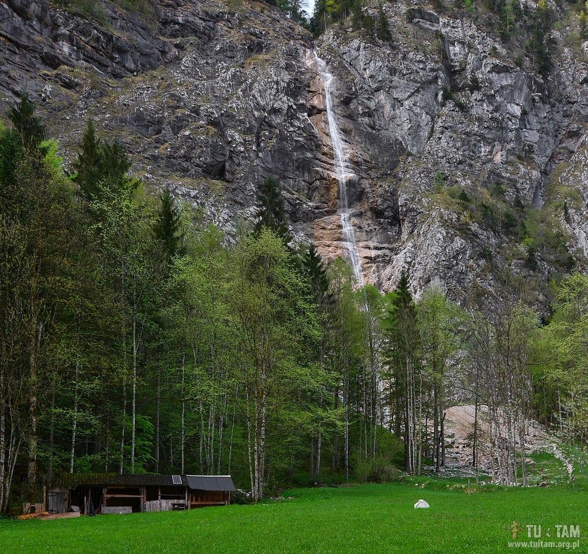 Wodospad skalny w Lahn k/Hallstatt