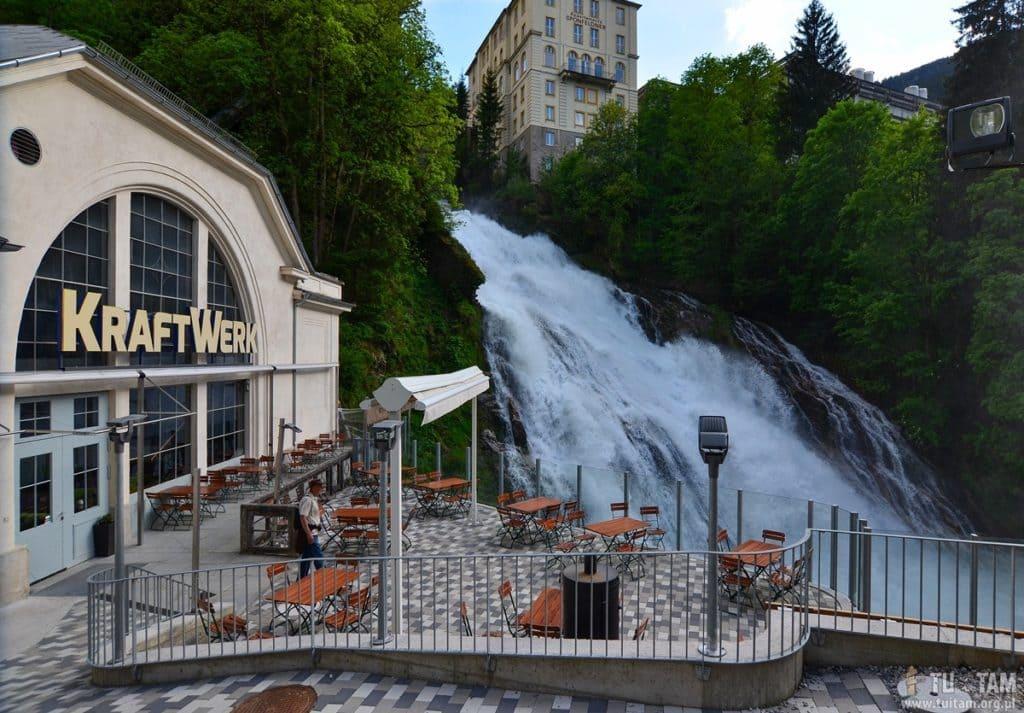 Bad Gastein, wodospad w środku miasta