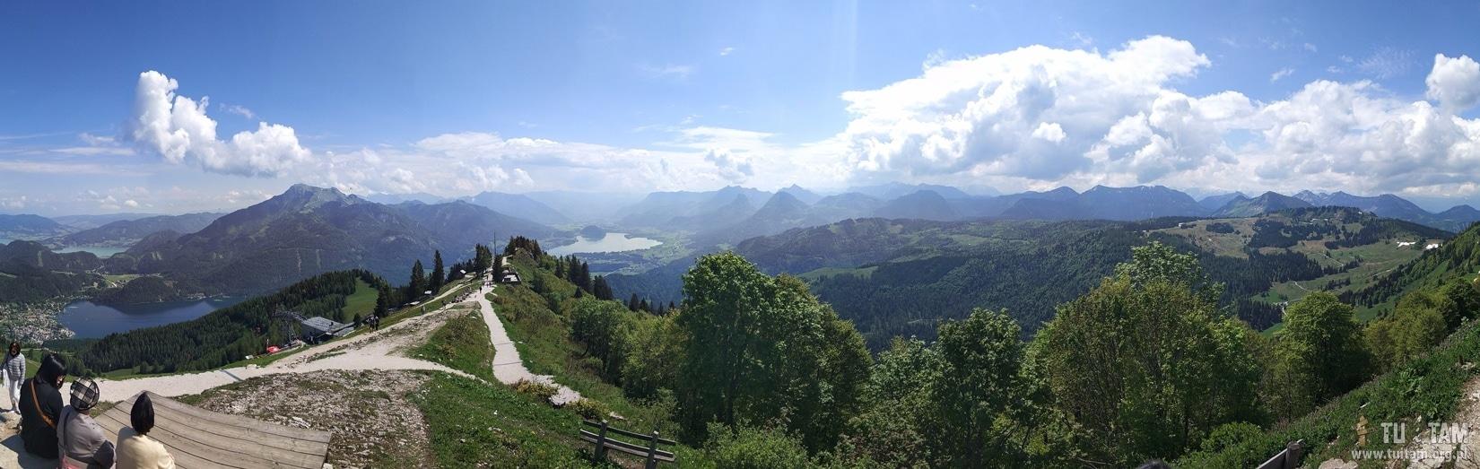 Zwolferhorn, widok z góry
