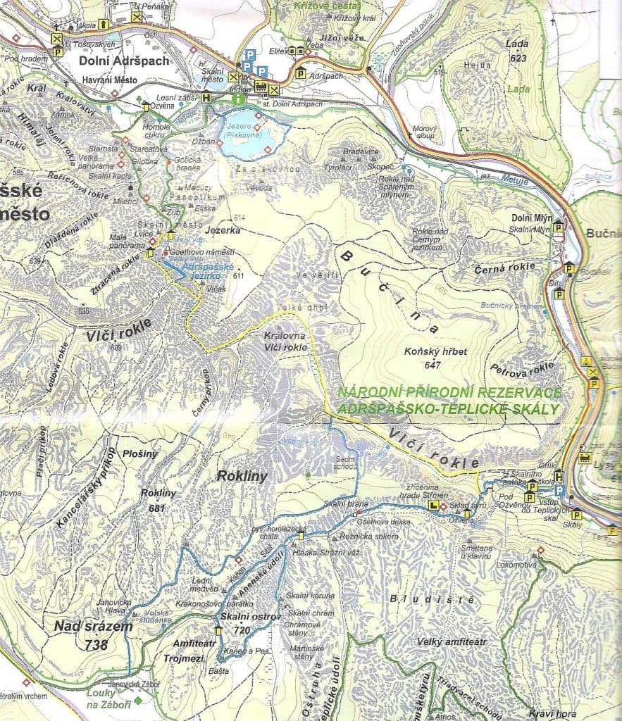Teplickie Skały mapa