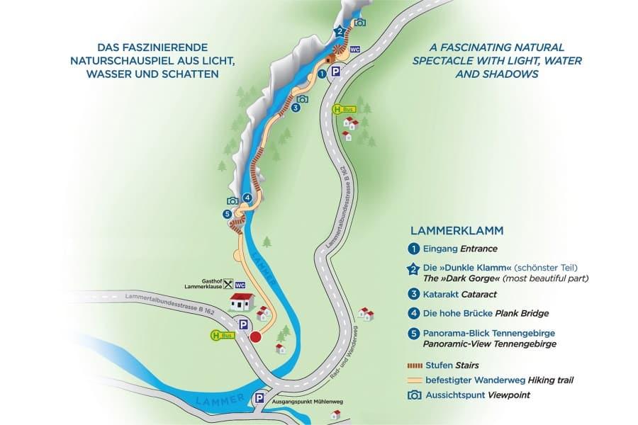 Lammerklamm mapa