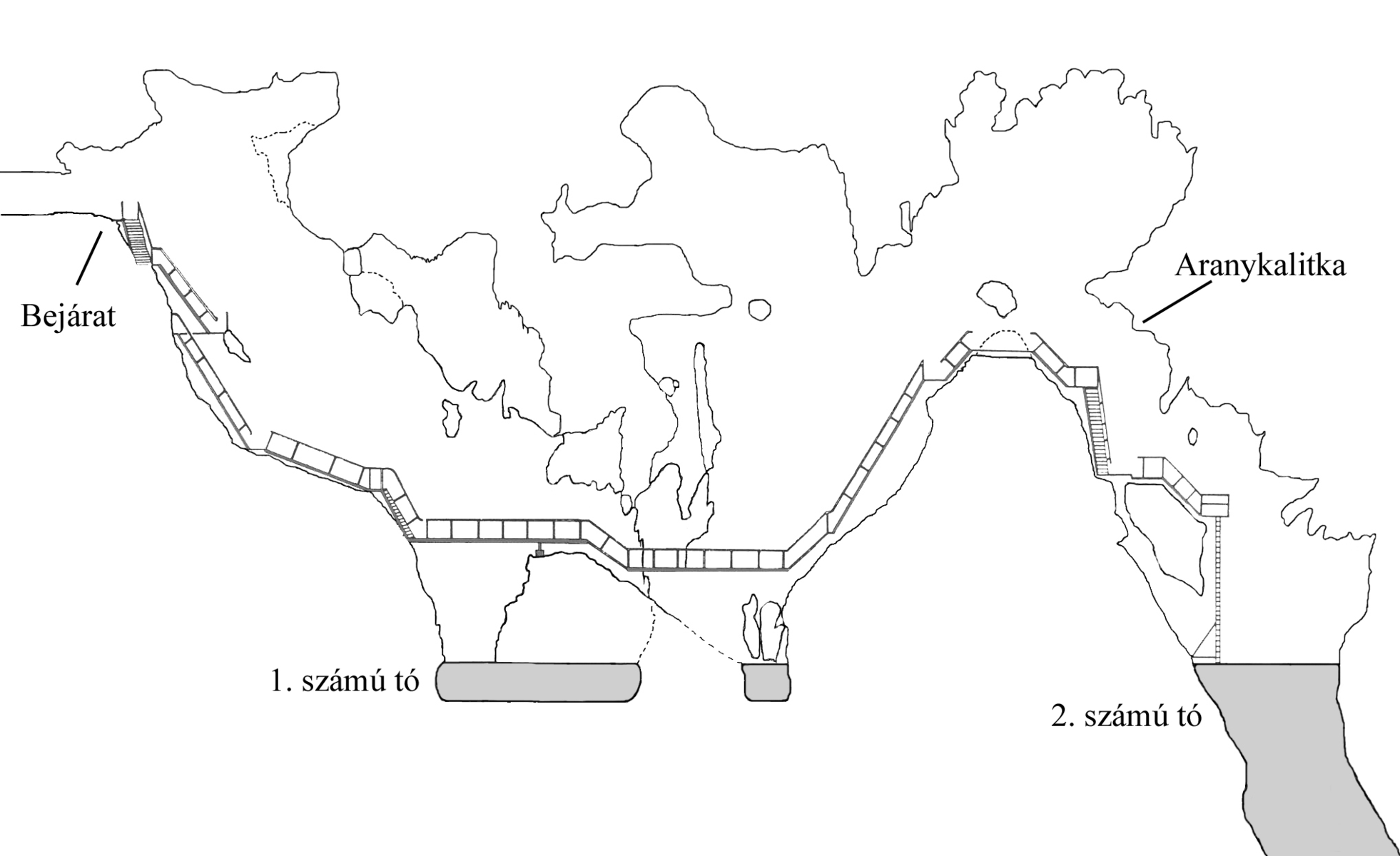 Jaskinia Rakoczi, mapa