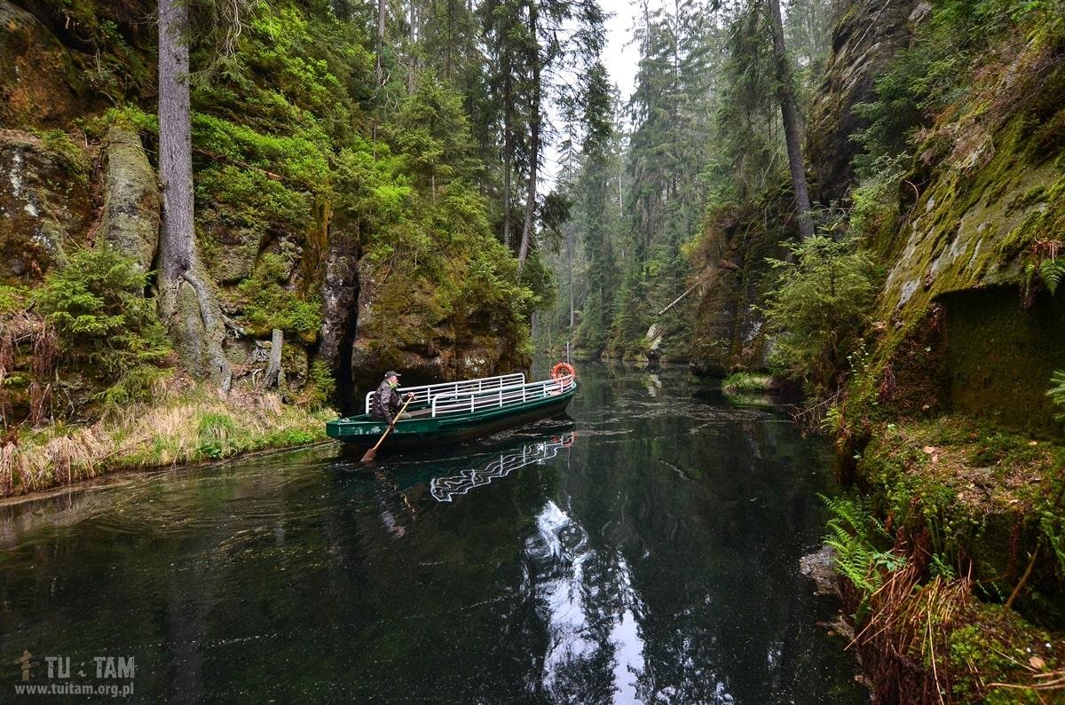 Szwajcaria saksońska - spływ łodziami