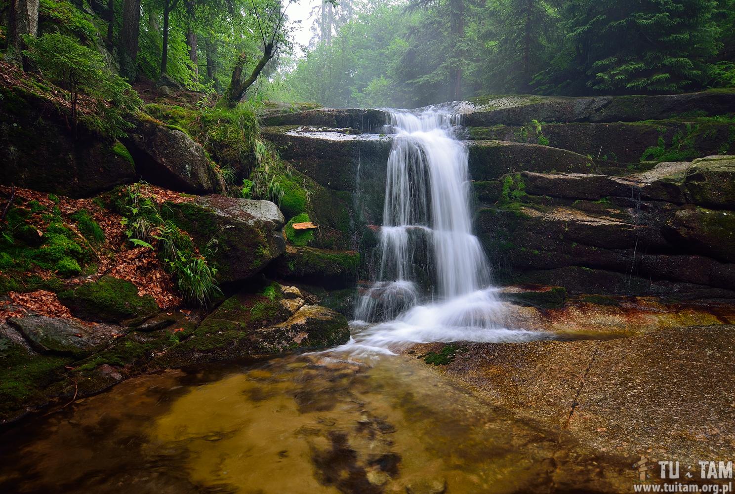 Najpiękniejsze wodospady w Polsce - Wodospad Myi