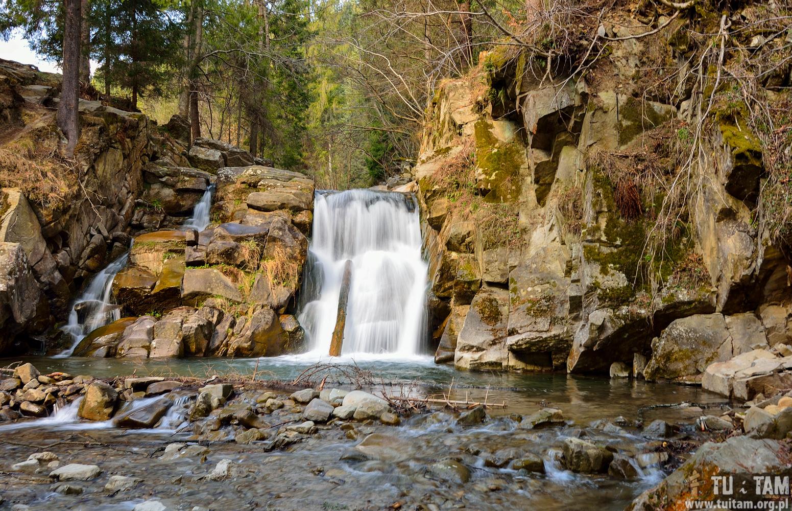 Najpiękniejsze wodospady w Polsce - Zaskalnik wodospad
