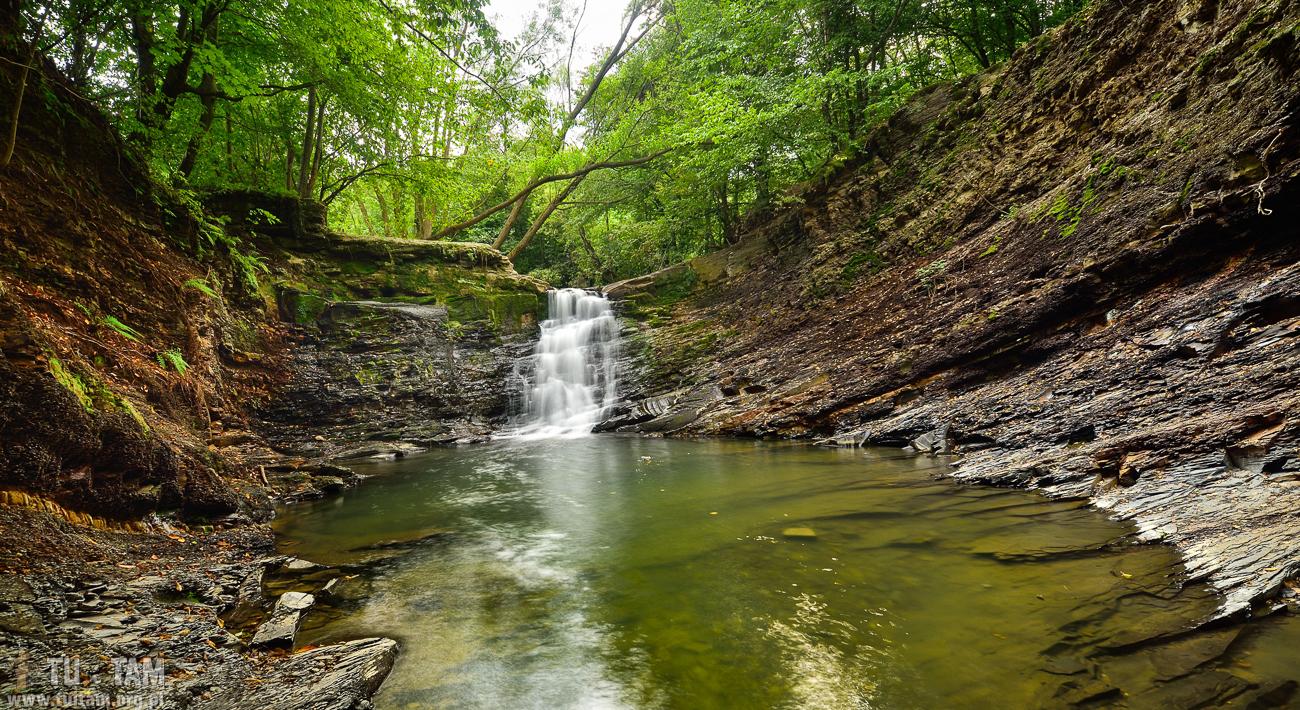 Wodospad Przy Młynie w Iwli