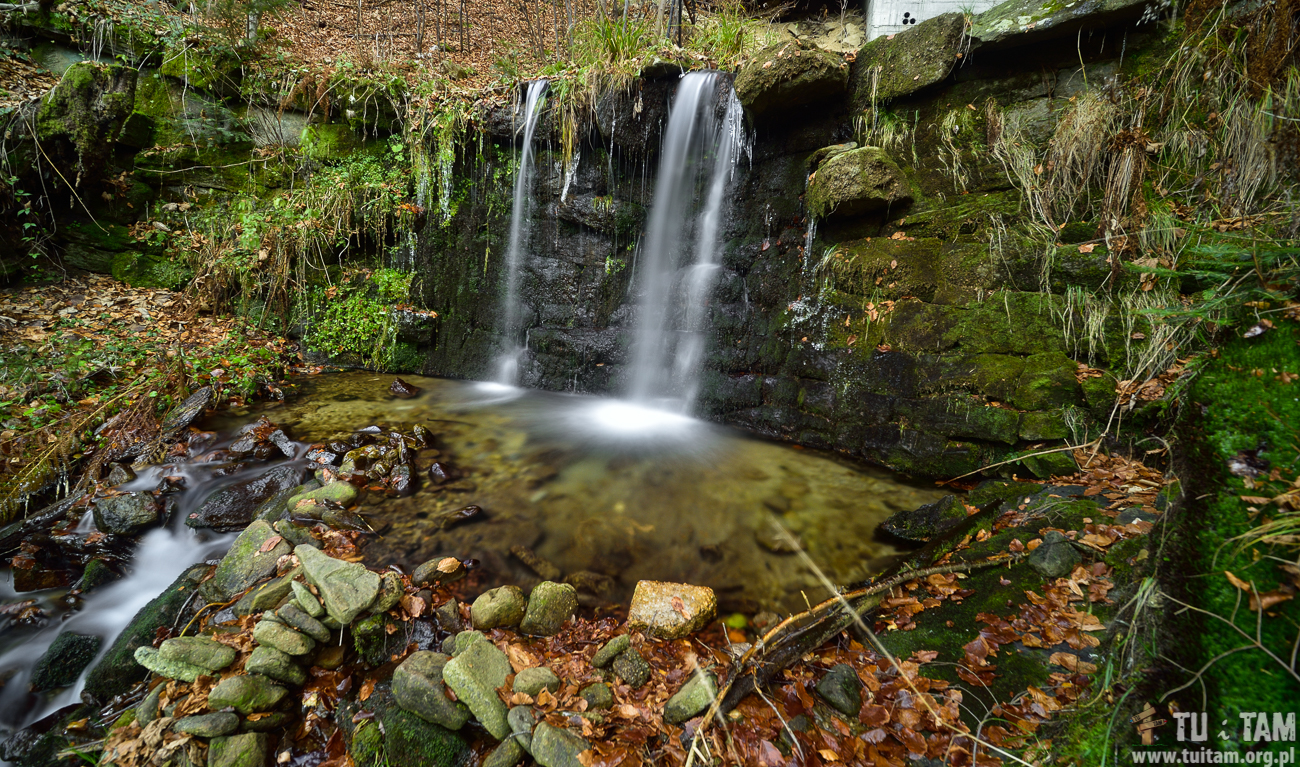 Wodospad Mały w Malince