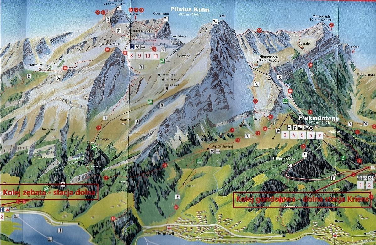 Pilatus Mapa