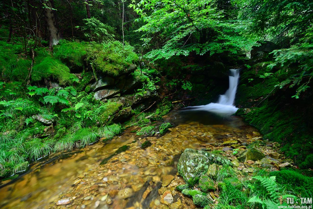 Wodospad na Czarnym Potoku w Czerniawie